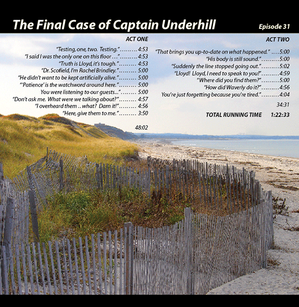 The Final Case of Captain Underhill (on CD)
